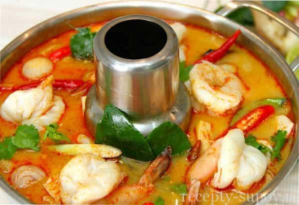 тайский суп с креветками и рисом рецепт пошагово
