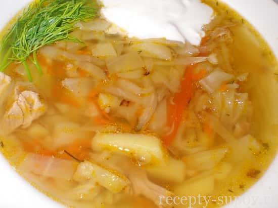 Щи из свежей капусты и курицы пошаговый рецепт