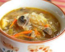 рецепт грибных щей