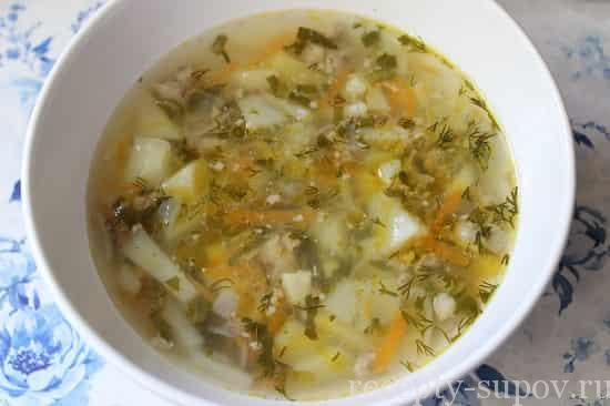 рецепт рассольника с грибами и рисом