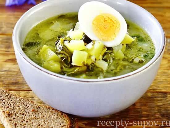 Зеленые щи из щавеля рецепт