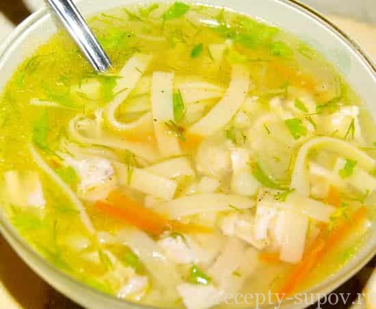 Суп из курицы с картошкой и лапшой с фото пошагово