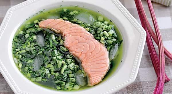 Рецепт ботвиньи с рыбой