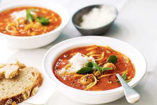 Рецепт супа с фрикадельками, вермишелью и грибами