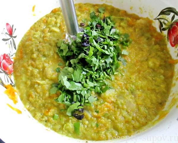 Суп с кабачками и капустой брокколи
