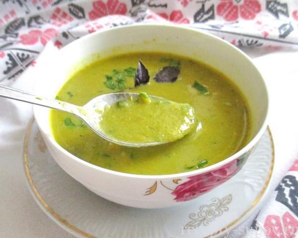 Суп с кабачками и цветной капустой