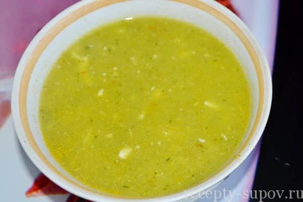 Суп-пюре из кабачков с картофелем