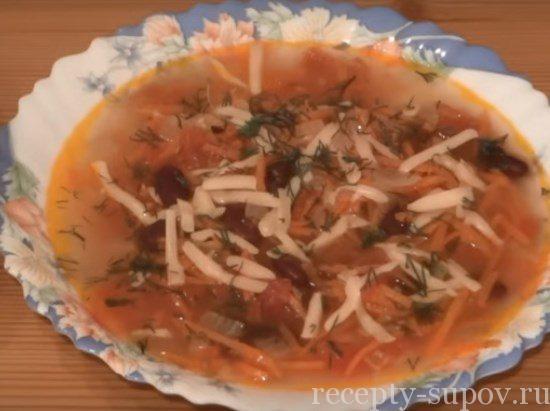 как приготовить суп из консервированной фасоли