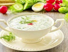 Рецепт окрошки на йогурте