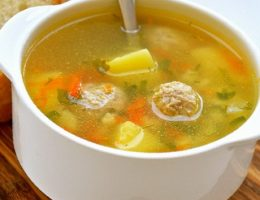 рецепт супа с куриными фрикадельками