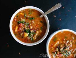 восточный суп из красной чечевицы